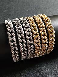 cheap -Bracelet Cuban Link Wave European Alloy Bracelet Jewelry Silver / Gold For Festival