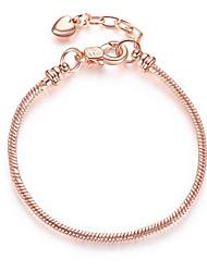 cheap -Chain Bracelet Snake Heart Simple Alloy Bracelet Jewelry Rose Gold / Gold / Silver For Date Festival