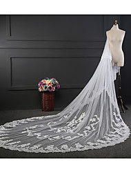 cheap -Two-tier Cute Wedding Veil Chapel Veils with Bows Lace / Tulle