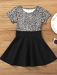 cheap -2020 foreign trade spring and summer new girls' skirts ins european and american hot style leopard print dress children's wear one drop delivery