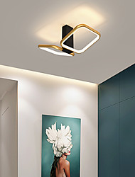 cheap -LED Ceiling Light Round Square Design Porch Light 32 cm Geometric Shapes Flush Mount Lights Aluminum Artistic Style Stylish Painted Finishes Artistic 110-120V 220-240V