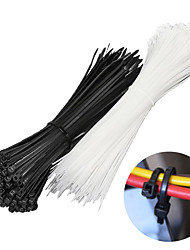 cheap -Cable Self-locking Plastic Wire Zip Ties Set Cable Ties Ring Winding 100PCS