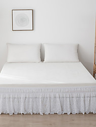 cheap -Bed Sheet Set Fitted Sheet Set white color with drop dust ruffle, extra soft and breathable  Full/King/Queen/Twin/Double/single/superKing size