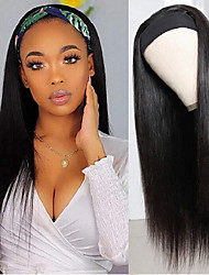cheap -wigs women's headscarf wigs, chemical fiber long straight hair, black trendy hair, headgear, cross-border wig manufacturers in stock