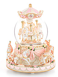 cheap -Carousel Snow Globe Gift, Music Box with Light 8-Horse Windup Musical Christmas Valentine Birthday Anniversary Present for Daughter Wife Girl Kids Clockwork Melody Canon