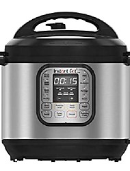 cheap -instant pot duo60 6 qt 7-in-1 multi-use programmable pressure cooker, slow cooker, rice cooker, steamer, sauté, yogurt maker and heater (ip-duo60), stainless steel / black