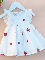 cheap -Kids Little Girls' Dress Fruit Tutu Dresses Print Type A Type B Type C Knee-length Sleeveless Basic Dresses Summer Regular Fit 1-5 Years