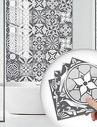 cheap -10 PCS Creative Kitchen Oil-proof Sticker Pvc Wall Sticker Self-adhesive Bathroom Waterproof Wall Floor Tile Sticker Ankara White