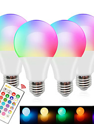 cheap -4-Pieces E27 Smart Bulb Lamp LED RGBW Light Dimmable RGB White LED Lamp Colorful Changing Bulb LED Lampada House Renovation