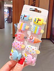 cheap -Kids / Toddler Girls' Cartoon Ice Cream Scratching Clip Hairpin Cat Fruit Bb Clip Liu Haibin Clip Duckbill Clip Children's Hairpin Girl Hair Accessories