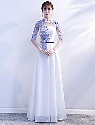 economico -coro abito da sera femminile sezione lunga 2020 nuovi vestiti sottili da coro di mezza età e anziani sottili gonna lunga cinese
