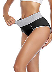 cheap -Women's High Waisted Cotton Underwear Soft Breathable Panties Stretch Briefs