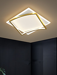 cheap -LED Ceiling Light Square Design Black Gold Includes Diimmable Version 45/55/65 cm Geometric Shapes Flush Mount Lights Aluminum Artistic Style Modern Style Stylish Painted Finishes Artistic 110-120V 220-240V