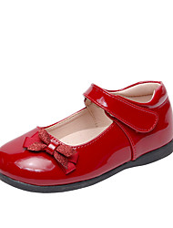 cheap -Girls' Sandals Princess Shoes Patent Leather Big Kids(7years +) Daily Walking Shoes Bowknot Black Red Fall Spring