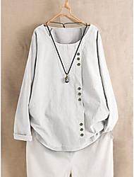 cheap -Women's Plus Size Tops Blouse Shirt Graphic Short Sleeve Round Neck Spring Summer Navy Green White Big Size L XL 2XL 3XL 4XL
