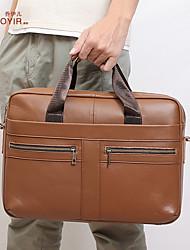 cheap -new style men's handbag business retro one-shoulder diagonal briefcase 15.6-inch computer bag leather men's bag