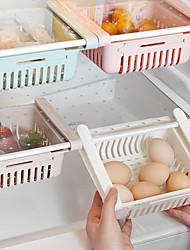 cheap -Retractable Storage Box Set Kitchen Organizer Drain Basket Refrigerator Drawer Fridge Holder Storage Rack Vegetable Box Fruit Tray