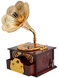 cheap -Music Box Phonograph/Gramophone 1 pcs Gift Home Decor Resin For Kid's Adults' Boys and Girls
