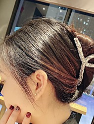cheap -south korea dongdaemun the same rhinestone hairpin crystal large hair catch ins simple face wash makeup plate hair claw clip