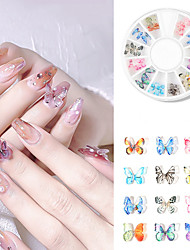 cheap -Mini Nail Decoration Ins Nail Art Three-Dimensional Butterfly Jewelry Heat Shrinkable Film Finished Small Butterfly