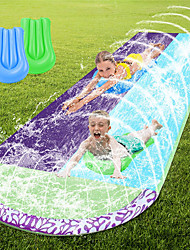 cheap -Water Slip and Slide for Kids Adults, 15.7 FT Lawn Water Slide, Outdoor Water Slide with Crash Pad and Splash Sprinkler Backyard(Surfboards Not Included)