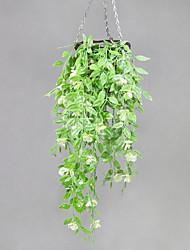 cheap -Simulation Plant Rattan Hanging Basket Simulation Flower Pea Pod Flower Wall Hanging 96cm