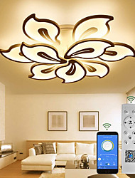 cheap -LED Acrylic Ceiling Light APP Control With Stepless Dimming Switch Control Ceiling lamp with petal Shape Unique Minimalist Livingroom Pendant Light  AC220V AC110V