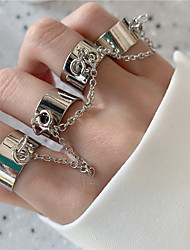 cheap -Ring Silver Alloy European Trendy Rock 1 set Adjustable / Women's