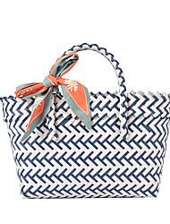 cheap -Women's Bags Top Handle Bag Straw Bag Daily 2021 Straw Bag Handbags Black Blue Yellow Khaki