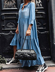 cheap -factory direct sales 2021 new washed denim dress with long sleeves