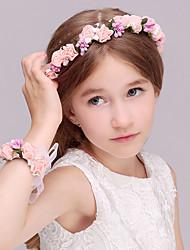 economico -bambini bambine mori ragazza tiro vacanza accessori per capelli corona testa di simulazione rattan fiore sposa damigella d'onore bambini braccialetto di nozze copricapo