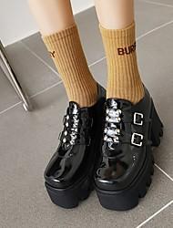 cheap -Women's Lolita Shoes Platform Round Toe PU Synthetics Black
