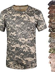 cheap -army fans outdoor sports clothing men short sleeve camouflage real tree pattern dry quick t-shirt (m)