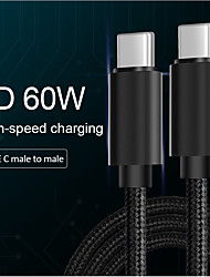 cheap -MCDODO Type-C Cable 1.0m(3Ft) 3 A High Speed / Quick Charge Nylon Cable For Samsung / Huawei