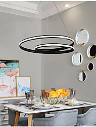 cheap -LED Pendant Light Circle Design Black White 40/60 cm Includes Dimmable Version Chandelier Aluminum Artistic Style Stylish Painted Finishes LED Modern 110-120V 220-240V