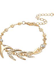 cheap -Women's Bracelet Classic Heart Elegant Alloy Bracelet Jewelry Gold / Silver For Wedding Street Daily Holiday Work
