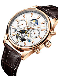 cheap -men's automatic business belt mechanical watch