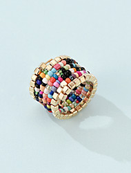 cheap -European And American Style Fashion Trend Bohemian Color Rice Beads Multi-Layer Ring