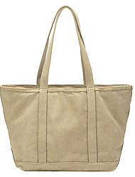 cheap -Women's Bags Canvas Tote Top Handle Bag Plain Daily Going out Canvas Bag Handbags Khaki Light Green Beige