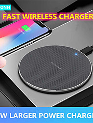 cheap -10W Wireless Charger for iPhone 12 11 X Xs Xr 10W Qi Fast Wireless Charging Pad Compatible with Samsung S21 Ultra S20 Plus S10 Note Apple Air Pods Pro Xiaomi OPPO VIVO Huawei Oneplus Charger