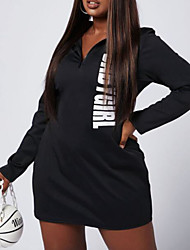 cheap -european and american plus size amazon hot sale net celebrity hot style letter positioning printing bag hip sexy casual plus size dress