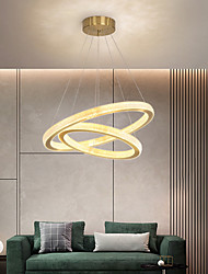 cheap -LED Pendant Light Modern Gold Ring 60 cm Luxury 2-Ring Circle Desgin Pendant Light Aluminum Electroplated 110-120V 220-240V