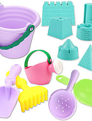 cheap -12 PCS Mini Beach Toy Sand SetSand Play SetKids Beach Toys Set with BucketWatering CanBeach Shovels Rakes ToolModels and Molds for Kids Toddlers Baby