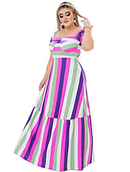 cheap -wish amazon 2021 spring and summer europe and america plus size women's color printing loose short-sleeved large dress dress