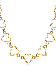 cheap -Women's Choker Necklace Chunky Heart Simple European Sweet Alloy Silver Gold 20-30 cm Necklace Jewelry 1pc For Street Prom Birthday Party Festival