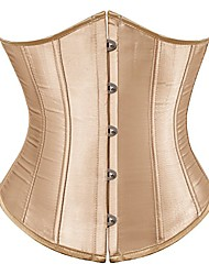 cheap -Corset Women's Plus Size Bustiers Corsets Casual Underbust Corset Classic Tummy Control Fashion Solid Color Buckle Hook & Eye Nylon Polyester / Cotton Christmas Halloween Wedding Party Birthday Party