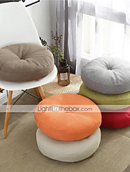 cheap -Solid Color Four Seasons Thick Chair Cushion Cotton Linen Crafts Tatami Cushion Student Dormitory Office Breathable Seat Cushion