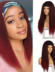 cheap -aisi wig  headband wigs hair with headgear yaki chemical fiber wig female bandage wig headgear