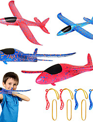 cheap -4 Pcs Catapult Slingshot Plane 2 Flight Mode Glider Airplane 2 Ways to Play Outdoor Flying Toy for Kids as Gift