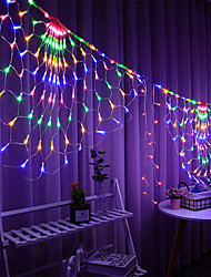 cheap -LED Mesh Net LED String Lights IP65 3.5M 3 Peacock 412Leds String Lights Outdoor Fairy  Curtain Lighting for Wedding Christmas Wedding New Year Garland Party Outdoor Indoor Decoration Lighting